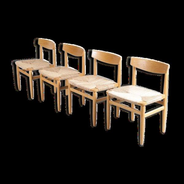 Selency Set de 4 chaises «Orseund» par Borge Mogensen pour Karl Andersson & Söner Suède