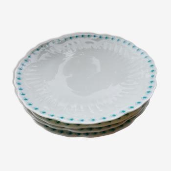 Lot d'assiettes porcelaine Chastagner