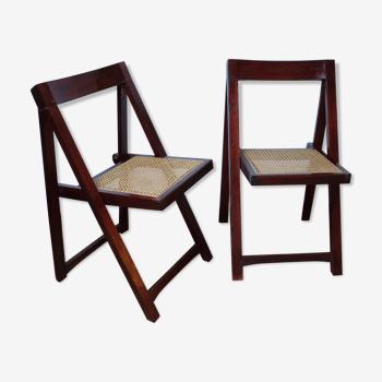 Paire de chaises pliantes, circa 1960