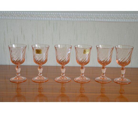 Ltot de 6 verres à liqueur art déco