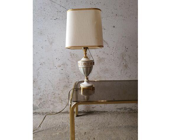 Lampe en porcelaine décoré par Mangani