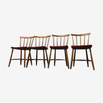 Lot de 4 chaises vintage