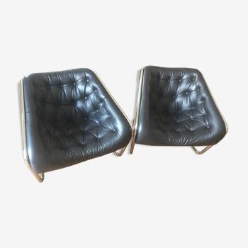 Paire de fauteuils Boxer Steiner  par Kwok Hoï Chan