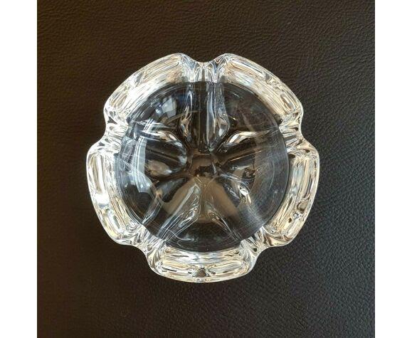 Cendrier vide poche en cristal style Daum en forme de fleur