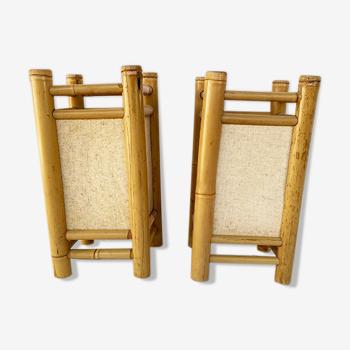 Paire de lampes bambou