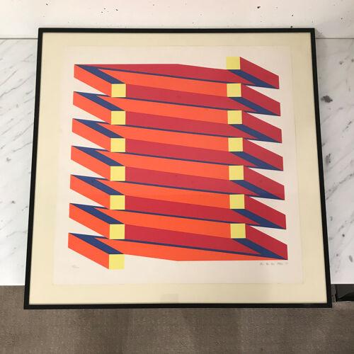 Lithographie Jan Van Den Abbeel, 57/100, Belgique 1973