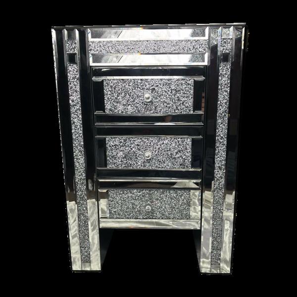 Selency Table de chevet en cristal de style vénitien