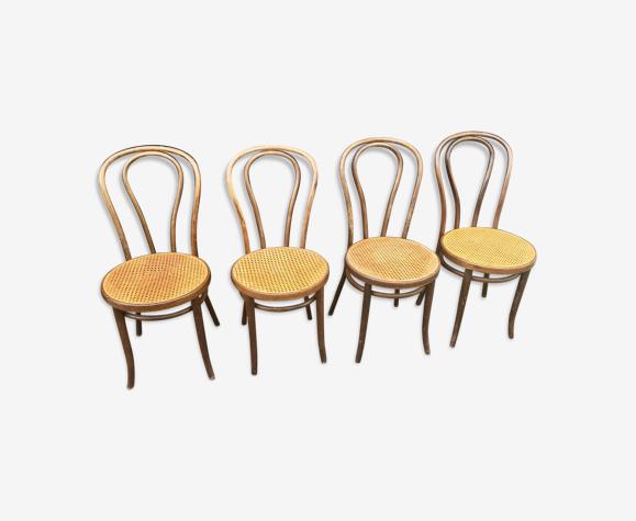 Lot de chaises zpm Radomsko cannées