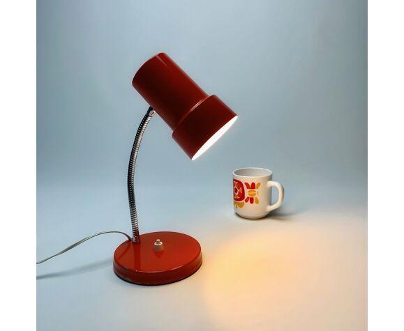 Lampe à poser orange tubulaire