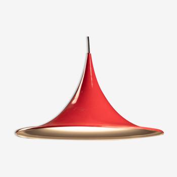 Semi red hanging lamp