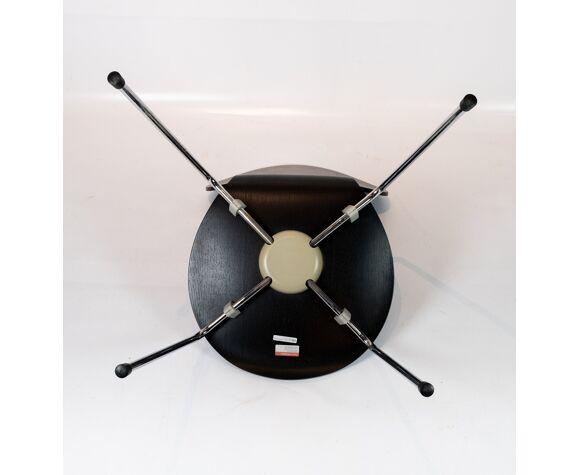 Lot de 4 chaises fourmi noire, modèle 3101, conçu par Arne Jacobsen en 1952