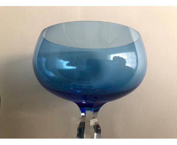Ensemble de 4 verres à vin en cristal de couleur
