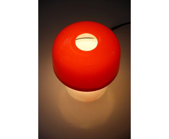 Lampe de table rouge vintage Space Age de Luigi Massoni pour Guzzini, années 1970