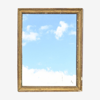 Miroir en bois doré  49x60cm