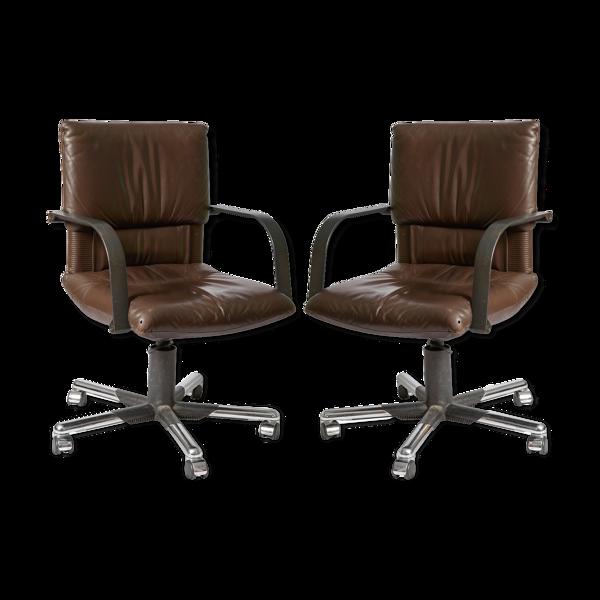 Paire de fauteuils par par Mario Bellini pour Vitra
