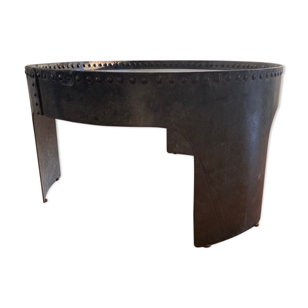 Selency Table basse industrielle en acier galvanisé