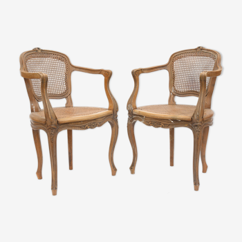 Pair of canine armchairs