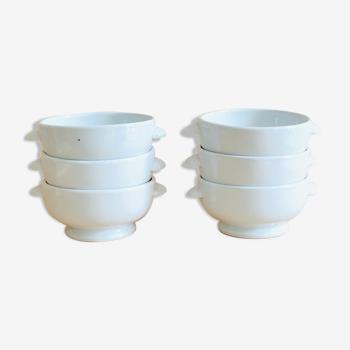 Set of 6 porcelain bowls Tradition CNP France
