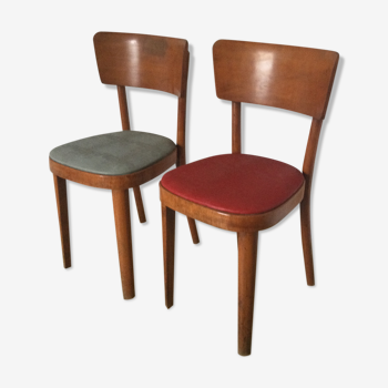 Chaises vintage bistrot