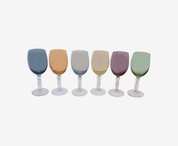 Set de 6 verres couleur