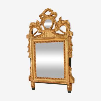 Miroir Louis XVI en bois doré 35x 65cm