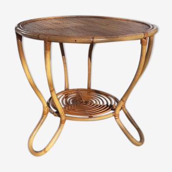 Table rotin circa années 60