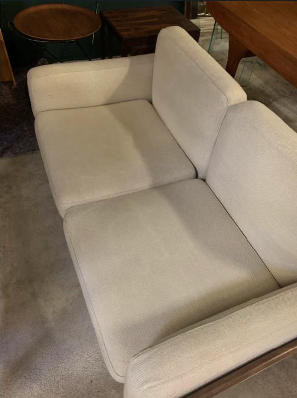 Banquette deux place et fauteuil en palissandre produit par Komfort