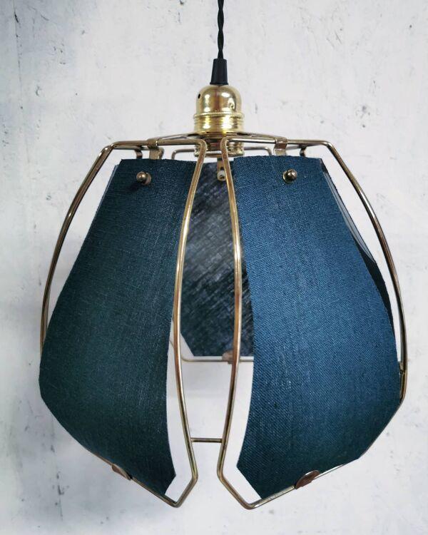 Suspension lin bleu canard