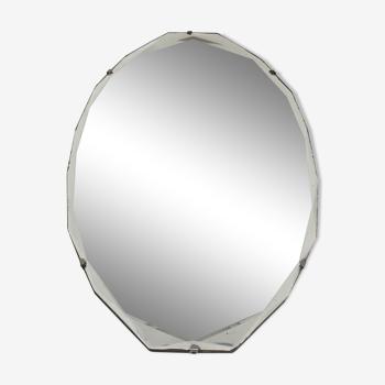 Miroir biseauté art déco 60 X 37 cm