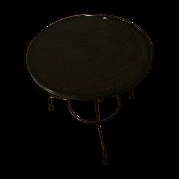 Table basse ronde en tôle filaire