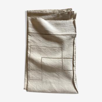 Drap de réserve en toile de lin sans monogramme