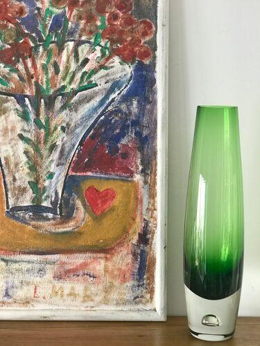 Vase verre vintage