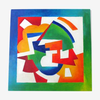 Peinture géométrique abstraite