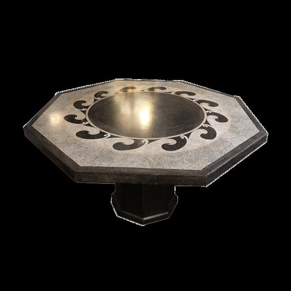 Selency Table octogonale noire