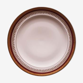 12 assiettes fines porcelaine de Limoges