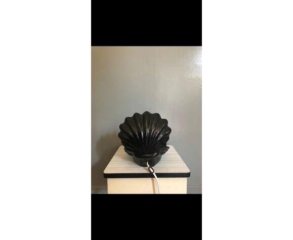 Lampe coquillage céramique et opaline