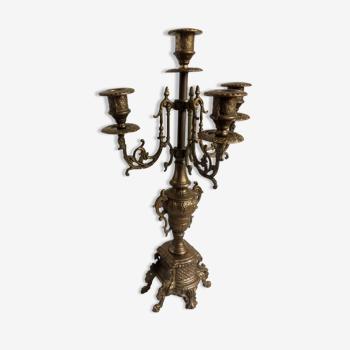 Bougeoir en bronze - époque et style Napoléon III - 2,2 kg - 43 cm