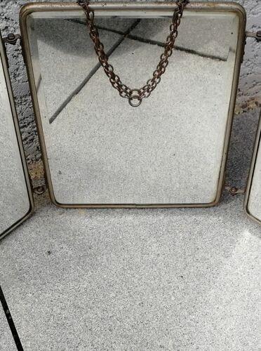 Miroir tryptique de barbier 40x20cm