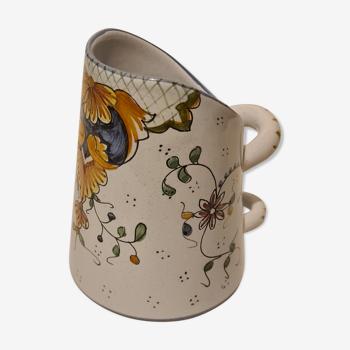 Pot faience old rouen r handmade
