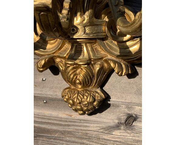 Paire d'appliques en bronze doré XIXeme