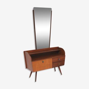 Coiffeuse vintage avec miroir des années 60