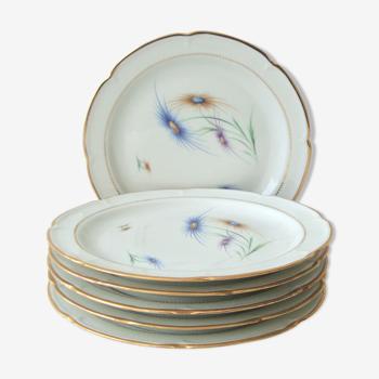 Set de 6 assiettes plates en porcelaine