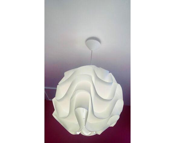 Lampe origami en film plissé
