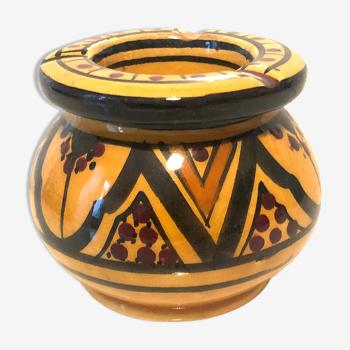 Cendrier marocain jaune taille moyenne