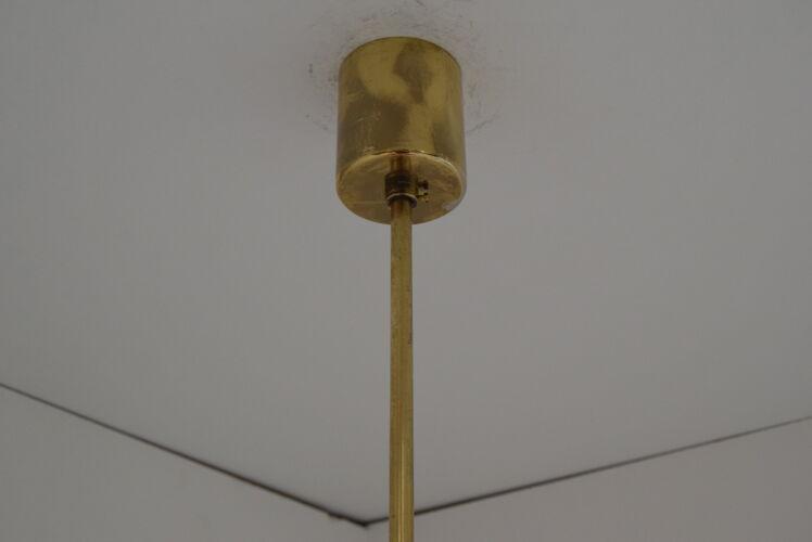 Mid-century Glass Pendant,1970's.