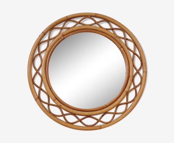 Miroir rotin 51cm