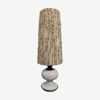 Lampe de sol en grès vernissé des années 70