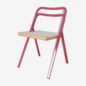Chaise pliante cannée par Giorgio Cattelan pour Cidue - 1970