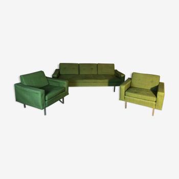 Salon canapé et deux fauteuils 1960