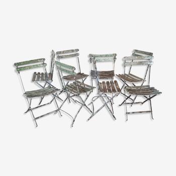 Set de 8 chaises bistrot / jardin pliantes fermob 1950